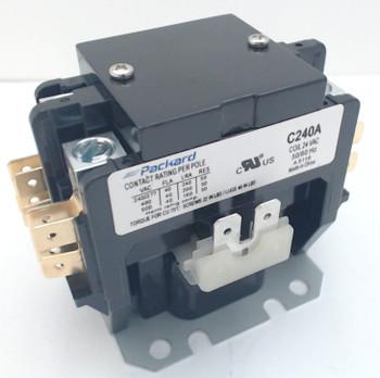 Packard Definite Purpose Contactor, 2 Pole, 40 Amps, 24 Coil Voltage, C240A