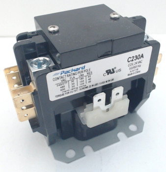 Packard Definite Purpose Contactor, 2 Pole, 30 Amps, 24 Coil Voltage, C230A
