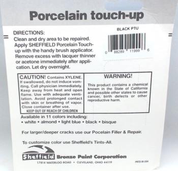 Porcelain, Heat-Proof, Appliance Touch-Up Paint, Black, 1999