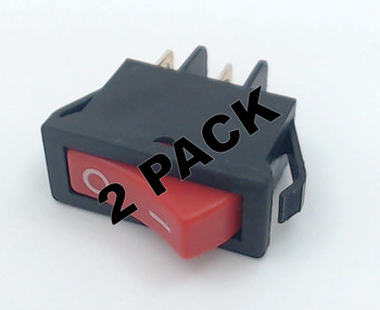 2 Pk, Bissell Power Switch for Rocker and Powerglide Vacuums, 2031035