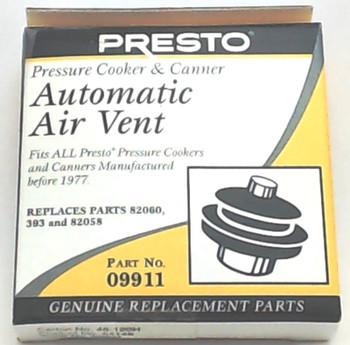 2 Pk, Presto Pressure Cooker Automatic Air Vent 09911
