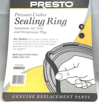 2 Pk, Presto Pressure Cooker Sealing Ring Gasket For 6 Qt, 09902