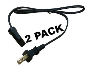 """2 Pk, Percolator Power Cord 2' 6"""" for Farberware Presto Fits 2 prong 36276 04772"""