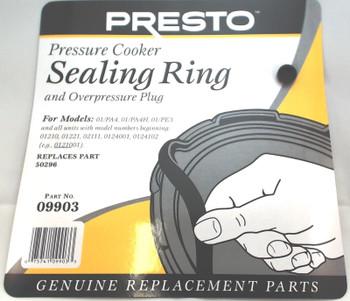 2 Pk, Presto Pressure Cooker Sealing Gasket Ring 09903