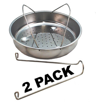2 Pk, Presto Pressure Cooker Stainless Steel Basket w/Trivet, 85650