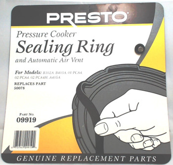 3 Pk, Presto Pressure Cooker Sealing Ring Gasket, 09919