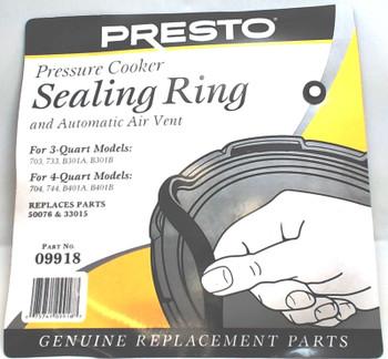 3 Pk, Presto Pressure Cooker Sealing Ring Gasket,  09918