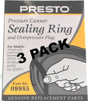 3 Pk, Presto Pressure Cooker Sealing Ring 09985