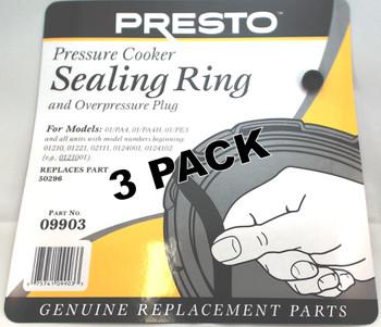 3 Pk, Presto Pressure Cooker Sealing Gasket Ring 09903
