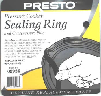 3 Pk, Presto Pressure Cooker Sealing Ring Gasket, 09936