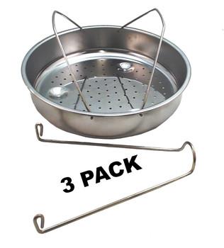 3 Pk, Presto Pressure Cooker Stainless Steel Basket w/Trivet, 85650