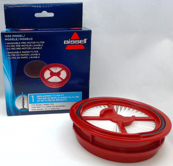 5 Pk, Bissell Symphony Vacuum & Steam Mop Filter Kit, Fits 1132 Models, 1250
