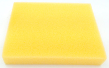 10 Pk, Bissell AeroSwift Vacuum Foam Filter, Yellow, 1600304