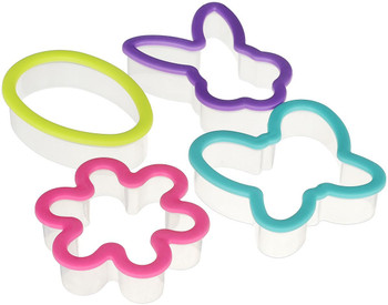 Wilton Comfort Grip Easter Assorted Cookie Cutter Set of 4