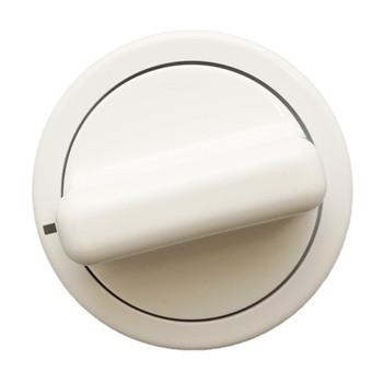 2 Pk, Dryer Timer Knob, White, for General Electric, AP3207448, WE01X10160