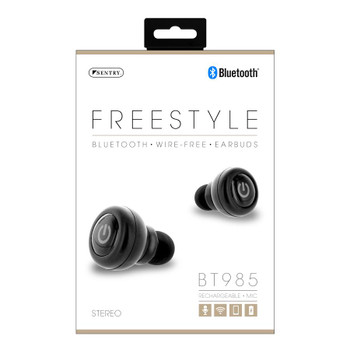 Sentry Freestyle, Bluetooth, Wire-Free Earbuds, BT985