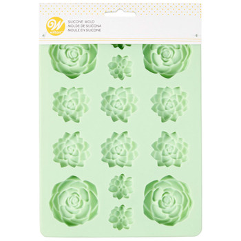 Wilton Silicone Succulents, 14 Cavity Candy Mold, 2115-3834