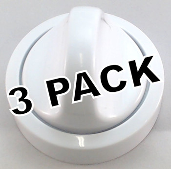 3 Pk, Dryer Knob for Frigidaire, AP2107778, PS418921, 131873500
