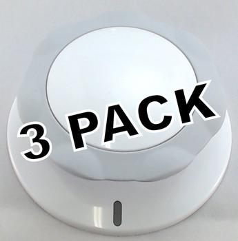 3 Pk, Dryer Timer Knob for Frigidaire, Electrolux, AP4356328, 134886700