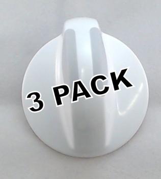 3 Pk, Dryer Knob for Frigidaire, Electrolux, AP4353854, PS2330889, 134844470