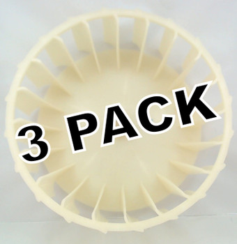 3 Pk, Dryer Blower Wheel for Maytag, Magic Chef, AP4294048, PS2200270, Y303836