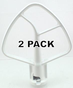 2 Pk, Stand Mixer, 4.5 QT Flat Coated Beater for KitchenAid K45B, W10672617