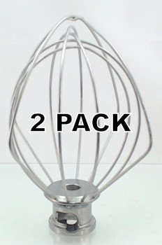 2 Pk, Stand Mixer, 4.5 QT Wire Whip, for KitchenAid, K45WW, WP9704329