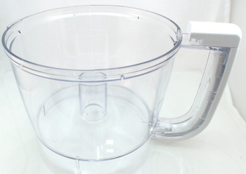 2 Pk, Food Processor White Work Bowl for KitchenAid, KFP77WBWH, 8211906