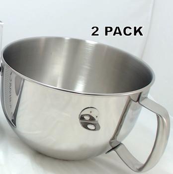 2 Pk, KitchenAid Stand Mixer 6QT S.S. Bowl, KN2B6PEH, AP4507761, W10245251