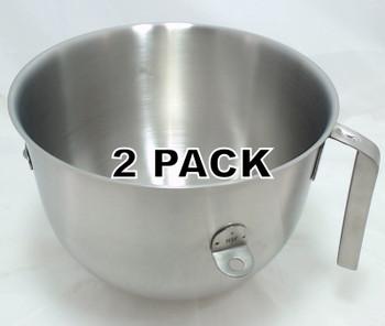 2 Pk, Stand Mixer 7 QT Commercial Bowl for KitchenAid, AP5318982, W10354780