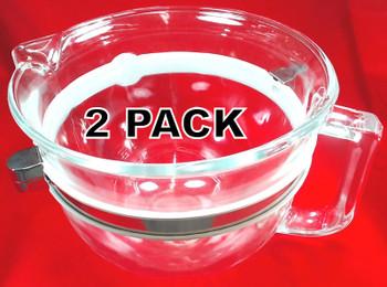 2 Pk, Stand Mixer 6 Quart Glass Work Bowl for KitchenAid, AP5788899, W10532186