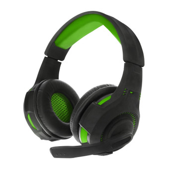 Sentry PS4, XBOX, PC, Green Gaming Headset with Boom Mic, GX100G