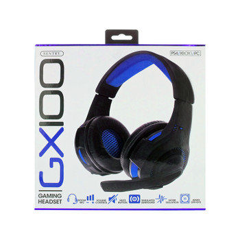 Sentry PS4, XBOX, PC, Blue Gaming Headset with Boom Mic, GX100B