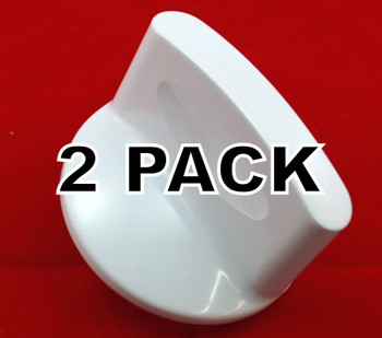 2 Pk, Washer Timer Knob, White, for General Electric , AP2044921, WH1X2754