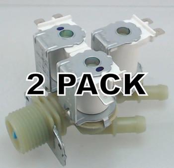 2 Pk, Supco WV2075C, Washing Machine Water Valve for LG, 5220FR2075C