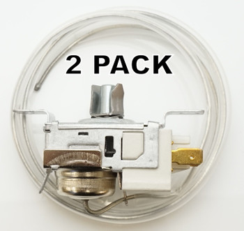 2 Pk, Refrigerator Thermostat for Whirlpool, Sears, AP3037004, PS329884, 2198202