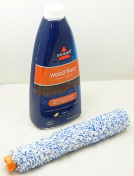 Bissell Crosswave 32oz Wood Floor Cleaning Formula & Wood Floor Brush Roll Set
