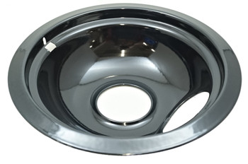 "Black Porcelain Drip Bowl 4 Pk for Whirlpool, (2) 6"" W10290353, (2) 8"" W10290350"