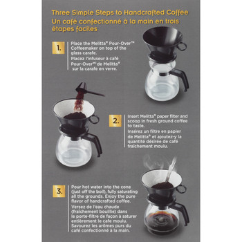 Melitta, Pour Over Brewing Cone with 52oz Glass Carafe, 640616