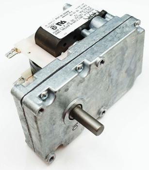 """Pellet Stove Auger Motor, .72 amps, 1"""" x 3/8 Shaft 1.7 rpm, CW, 44106, PS44106"""