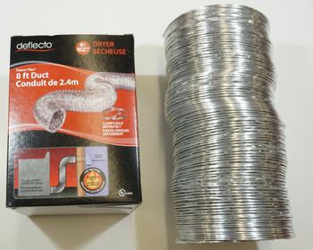 Deflecto Supurr-Flex Dryer Vent Duct, 8 foot, F0408B