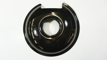 "Range Black Porcelain 8"" Drip Pan for Most Fixed Elements, 412-8"