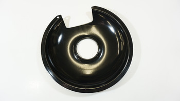 """Range Black Porcelain 8"""" Drip Pan for GE and Hotpoint Fixed Elements, 410-8"""