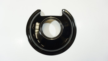 """Range Black Porcelain 6"""" Drip Pan for GE and Hotpoint Fixed Elements, 411-6"""