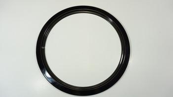 "Range Black Porcelain 8"" Trim Ring for GE and Hotpoint, 420-8"