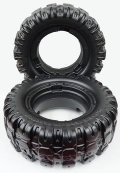Power Wheels Jeep Hurricane, 2pk Front or Rear tires, J4394-Q803-01, J4394-2529