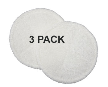 Bissell Soft Mop Pads, 3 Pack, 6 Pieces, for Spinwave Hard Floor, 1611297