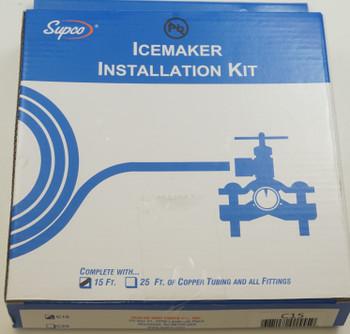 "Supco 15' Copper Tubing Ice Maker Installation Kit, 1/4"" OD, C15"