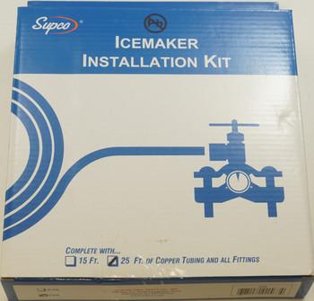 "Supco 25' Copper Tubing Ice Maker Installation Kit, 1/4"" OD, C25"