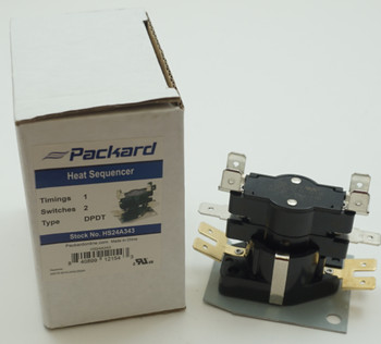 Packard DPDT Heat Sequencer, 1 Timing, 2 Switches, AP3848563, HS24A343